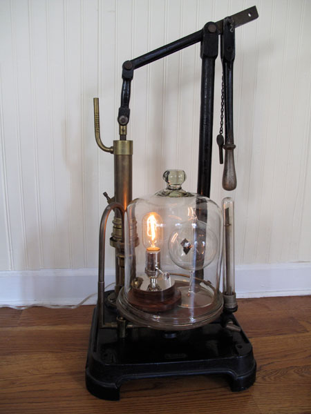 Mini Car Vacuum >> Victorian Vacuum Lamp
