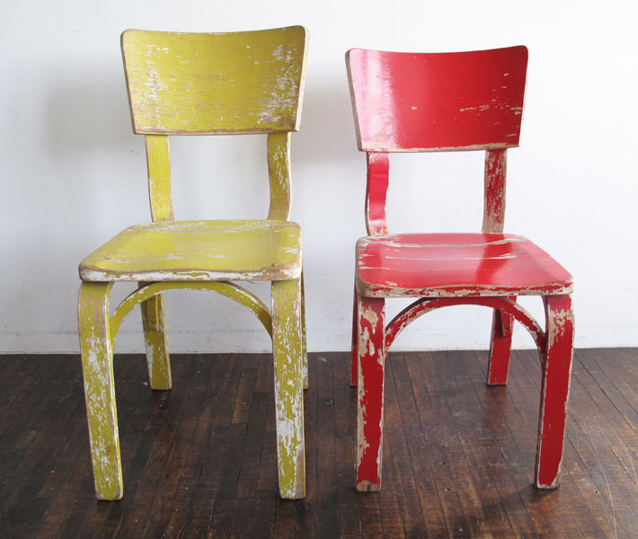 Exceptionnel PAINTED WOOD CHAIRS